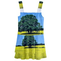 Tree In Field Kids  Layered Skirt Swimsuit