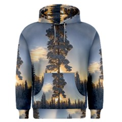 Winter Sunset Pine Tree Men s Pullover Hoodie