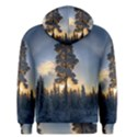 Winter Sunset Pine Tree Men s Pullover Hoodie View2