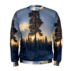 Winter Sunset Pine Tree Men s Sweatshirt