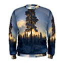 Winter Sunset Pine Tree Men s Sweatshirt View1