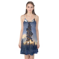 Winter Sunset Pine Tree Camis Nightgown