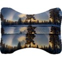Winter Sunset Pine Tree Velour Seat Head Rest Cushion View2