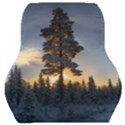 Winter Sunset Pine Tree Car Seat Back Cushion  View1