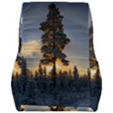 Winter Sunset Pine Tree Car Seat Back Cushion  View2