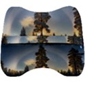 Winter Sunset Pine Tree Velour Head Support Cushion View2