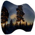 Winter Sunset Pine Tree Velour Head Support Cushion View3