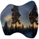 Winter Sunset Pine Tree Velour Head Support Cushion View4