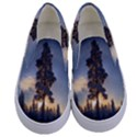 Winter Sunset Pine Tree Kids  Canvas Slip Ons View1