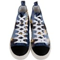 Winter Sunset Pine Tree Men s Mid-Top Canvas Sneakers View1