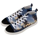 Winter Sunset Pine Tree Men s Mid-Top Canvas Sneakers View2