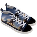 Winter Sunset Pine Tree Men s Mid-Top Canvas Sneakers View3