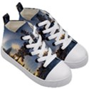 Winter Sunset Pine Tree Kid s Mid-Top Canvas Sneakers View3