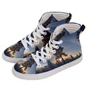 Winter Sunset Pine Tree Women s Hi-Top Skate Sneakers View2