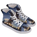 Winter Sunset Pine Tree Women s Hi-Top Skate Sneakers View3