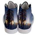 Winter Sunset Pine Tree Women s Hi-Top Skate Sneakers View4