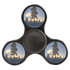 Winter Sunset Pine Tree Finger Spinner by Alisyart