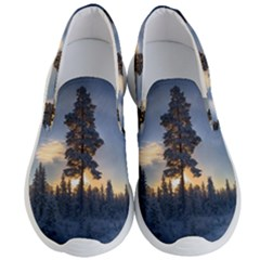 Winter Sunset Pine Tree Men s Lightweight Slip Ons