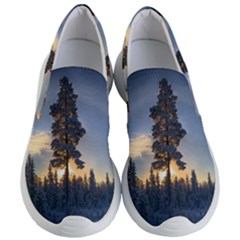 Winter Sunset Pine Tree Women s Lightweight Slip Ons