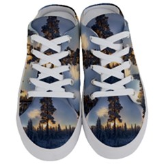 Winter Sunset Pine Tree Half Slippers
