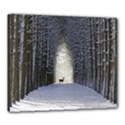Trees Nature Snow Deer Landscape Winter Canvas 24  x 20  (Stretched) View1