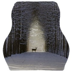Trees Nature Snow Deer Landscape Winter Car Seat Velour Cushion  by Alisyart