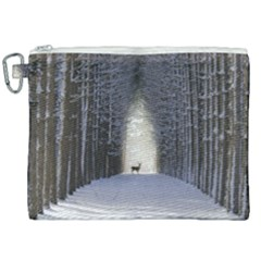 Trees Nature Snow Deer Landscape Winter Canvas Cosmetic Bag (xxl)