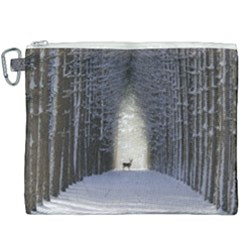 Trees Nature Snow Deer Landscape Winter Canvas Cosmetic Bag (xxxl) by Alisyart