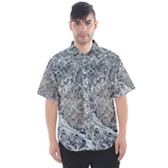 Marble Pattern Men s Short Sleeve Shirt