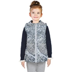 Marble Pattern Kid s Hooded Puffer Vest