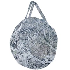Marble Pattern Giant Round Zipper Tote by Alisyart
