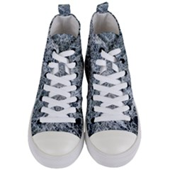 Marble Pattern Women s Mid Top Canvas Sneakers