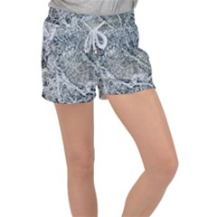 Marble Pattern Women s Velour Lounge Shorts