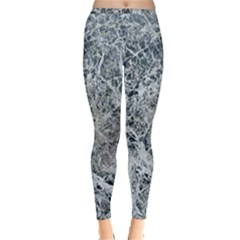Marble Pattern Inside Out Leggings