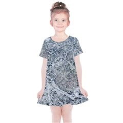 Marble Pattern Kids  Simple Cotton Dress