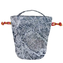 Marble Pattern Drawstring Bucket Bag