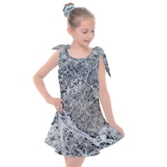 Marble Pattern Kids  Tie Up Tunic Dress