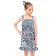 Marble Pattern Kids  Overall Dress