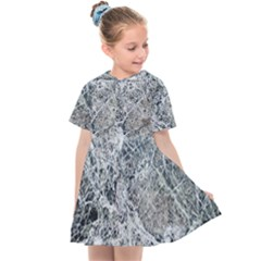 Marble Pattern Kids  Sailor Dress