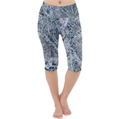 Marble Pattern Lightweight Velour Cropped Yoga Leggings