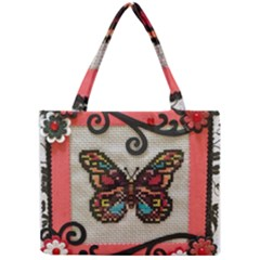 Cross Stitch Butterfly Mini Tote Bag by DeneWestUK