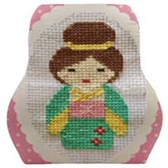 Cross Stitch Kimono Car Seat Back Cushion