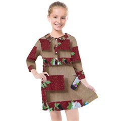 E Is For Everything Kids  Quarter Sleeve Shirt Dress