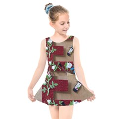 E Is For Everything Kids  Skater Dress Swimsuit