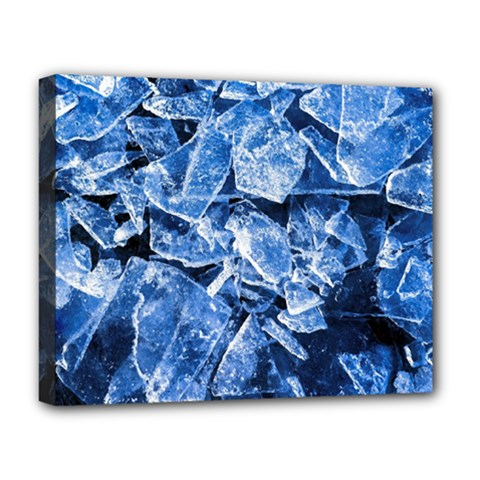 Cold Ice Deluxe Canvas 20  X 16  (stretched)
