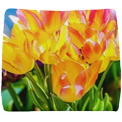 Festival Of Tulip Flowers Seat Cushion by FunnyCow