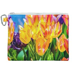 Festival Of Tulip Flowers Canvas Cosmetic Bag (xxl) by FunnyCow