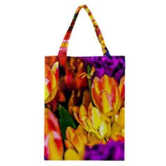 Fancy Tulip Flowers In Spring Classic Tote Bag