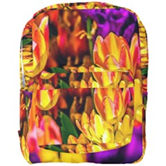 Fancy Tulip Flowers In Spring Full Print Backpack by FunnyCow