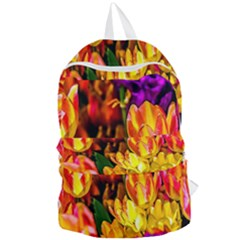 Fancy Tulip Flowers In Spring Foldable Lightweight Backpack by FunnyCow